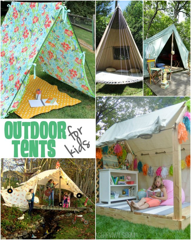 Fun and creative ideas to create your own outdoor tents for kids! & Outdoor Tents for Kids - Design Dazzle