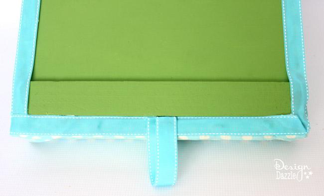 add ribbon to a portable lap desk