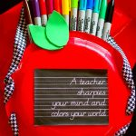 A Teacher Sharpies Your Mind And Colors Your World Gift Tote!
