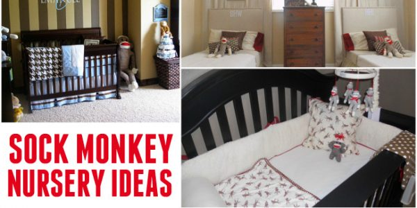 sock monkey nursery ideas featured image