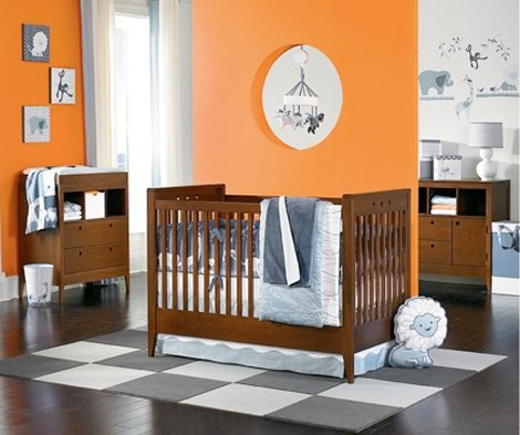 Colorful Orange Nursery Ideas Featured On Design Dazzle