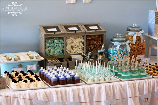 Lots of great finger food treats as part of this baby shower!