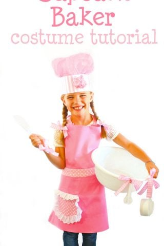 No-Sew Cupcake Baker Halloween Costume