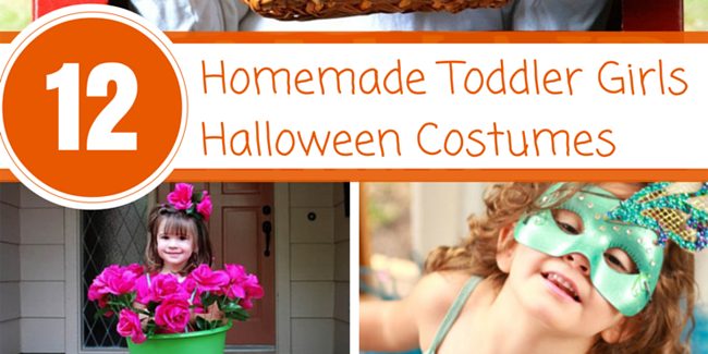 Darling Homemade Toddler Girls Halloween Costumes - Design Dazzle