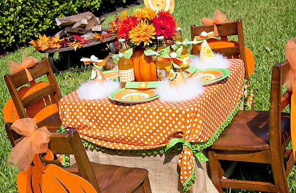 Little Pumpkin Fall Harvest Birthday Party  Design Dazzle