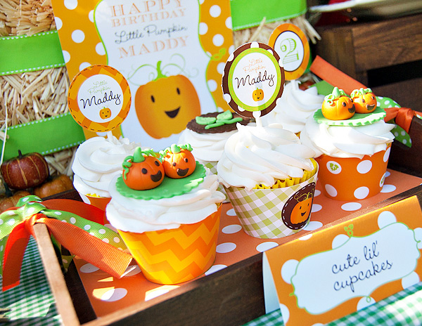 Backyard Pumpkin Patch Party : Little Pumpkin Fall Harvest Birthday Party  Design Dazzle
