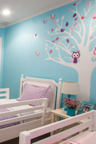 Cute Twin Girls Room that changes with the seasons