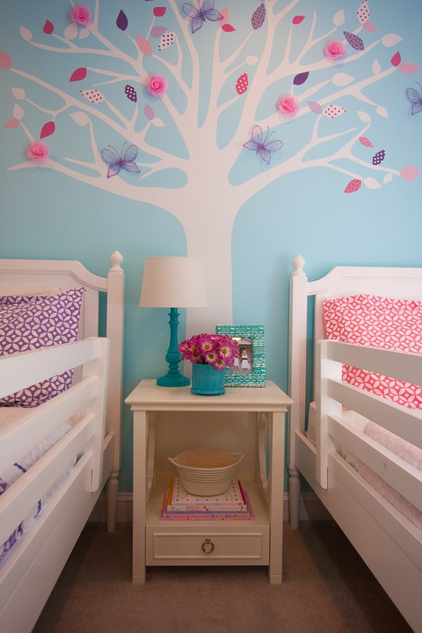 Seasonal Twin Girls Room Design Dazzle
