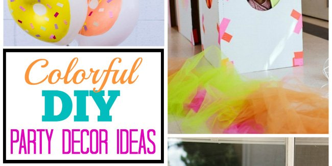 colorful diy party decor ideas fi