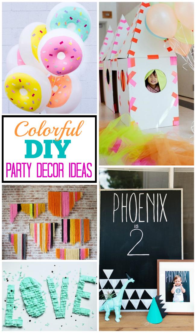 Colorful DIY Party Decor Ideas