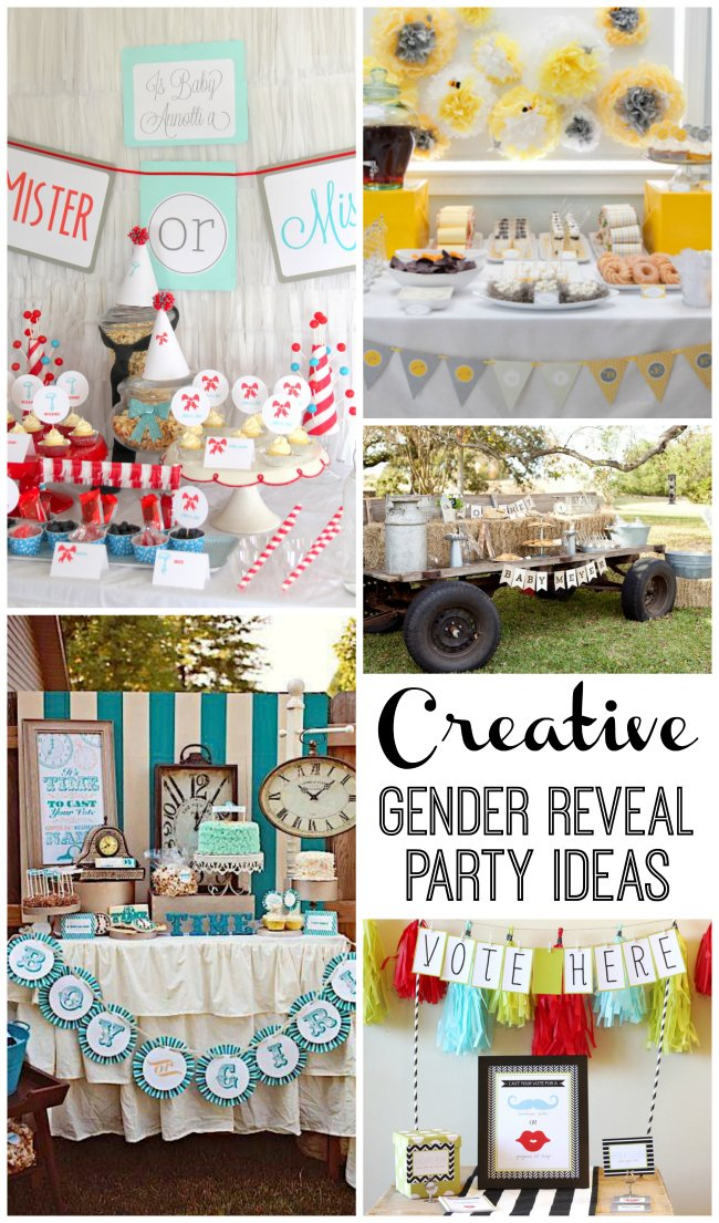 creative gender reveal party ideas with so many fun and unique themes