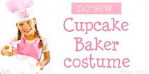DIY no-sew cupcake baker costume! Design Dazzle