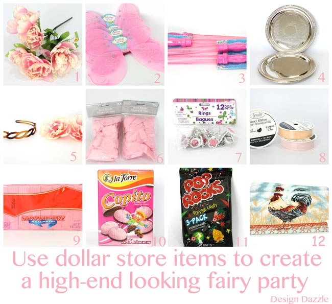 This fairy party cost less than $100 to create. There are lots of CREATIVE and AFFORDABLE do-it-yourself projects that can be easily recreated to make your own fairy party on a budget!! Design Dazzle #partyonadime #fairyparty #budgetparty