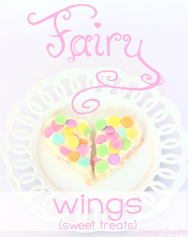 Learn how to make EASY Fairy Party Treats and Edible Fairy Wings using store bought items! I always love no-bake ideas for parties. Design Dazzle