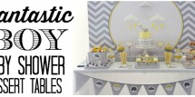 fantastic boy baby shower dessert tables fi