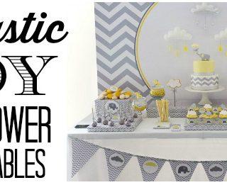Fantastic Boy Baby Shower Dessert Tables