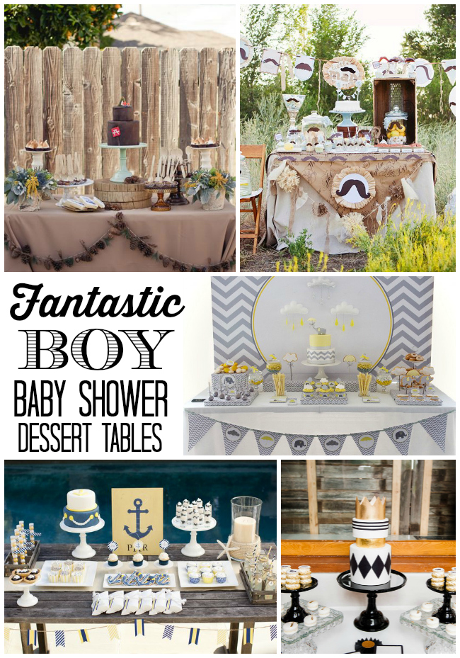 Baby Shower Sweet Table Ideas sweet table ideas purple gold hot air balloon dessert table from a hot air balloon baby A Great Collection Of Fabulous Boy Baby Shower Dessert Tables With Different Style Ideas For Anyone