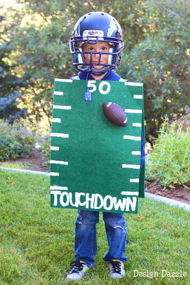 Football Field Dollar Store Costume by Toni Roberts