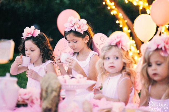 Sweet fairies having a tea party! Design Dazzle