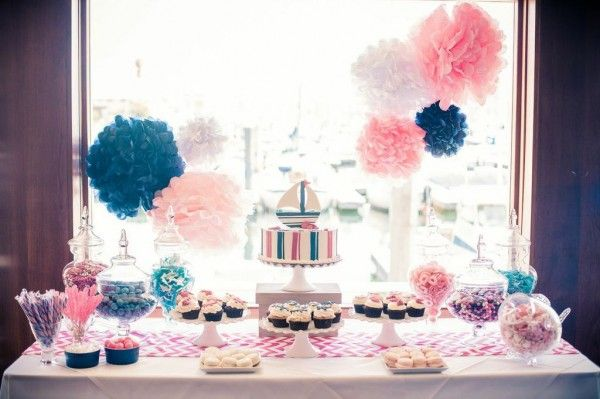 Gorgeous Girl Themed Baby Shower Dessert Sweets Table Idea