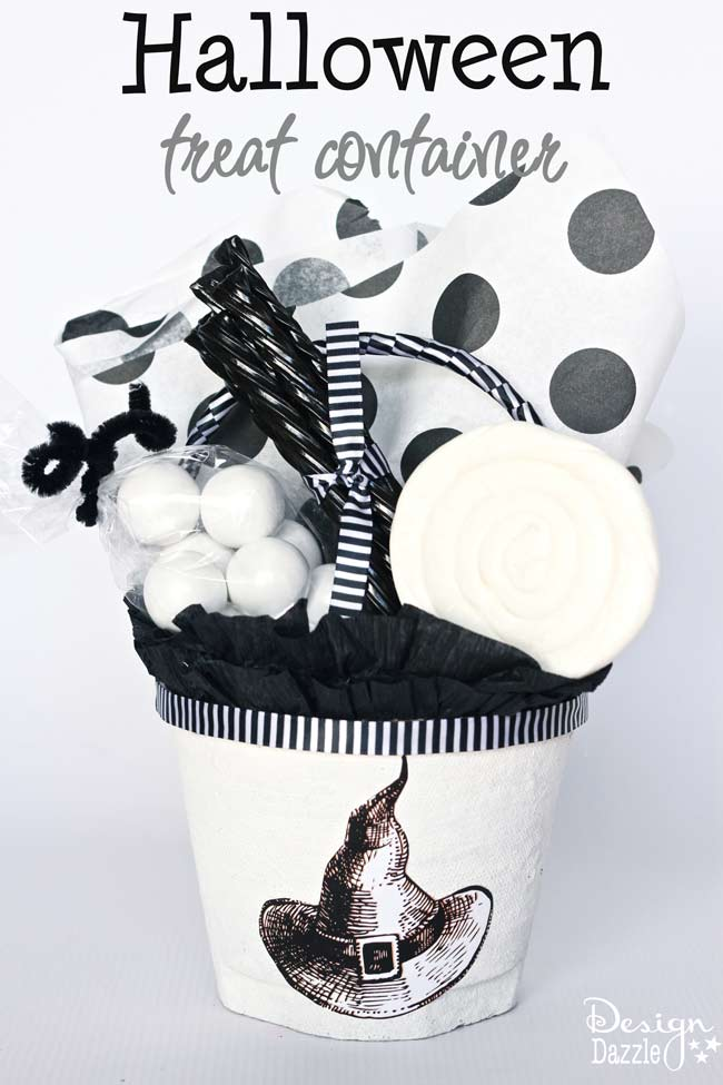 DIY Halloween Treat Container by Toni Roberts