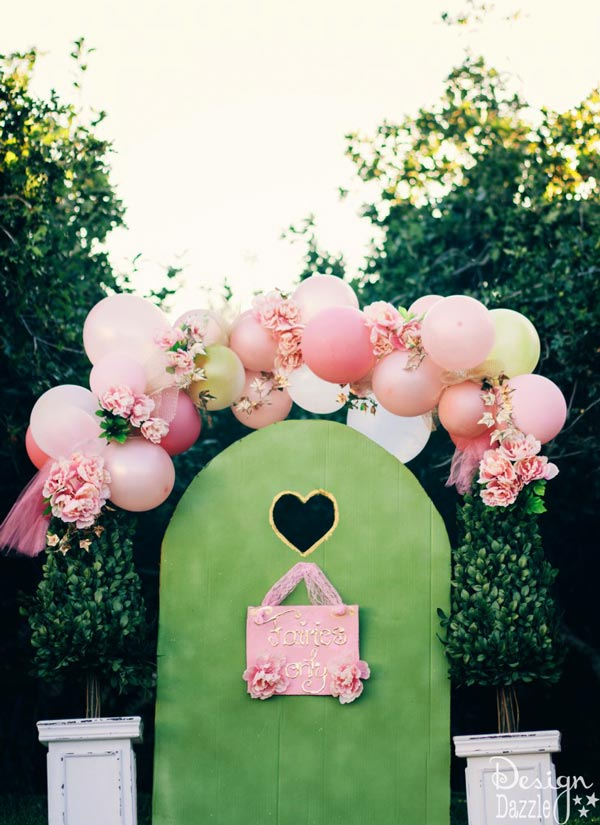Balloons And Flowers Make A Beautiful Fairy Arch Design