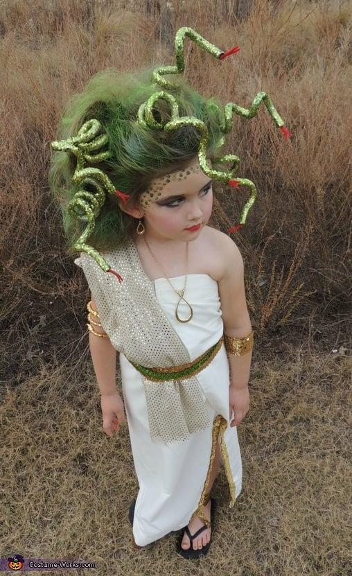 Medusa girl costume homemade mythology goddess