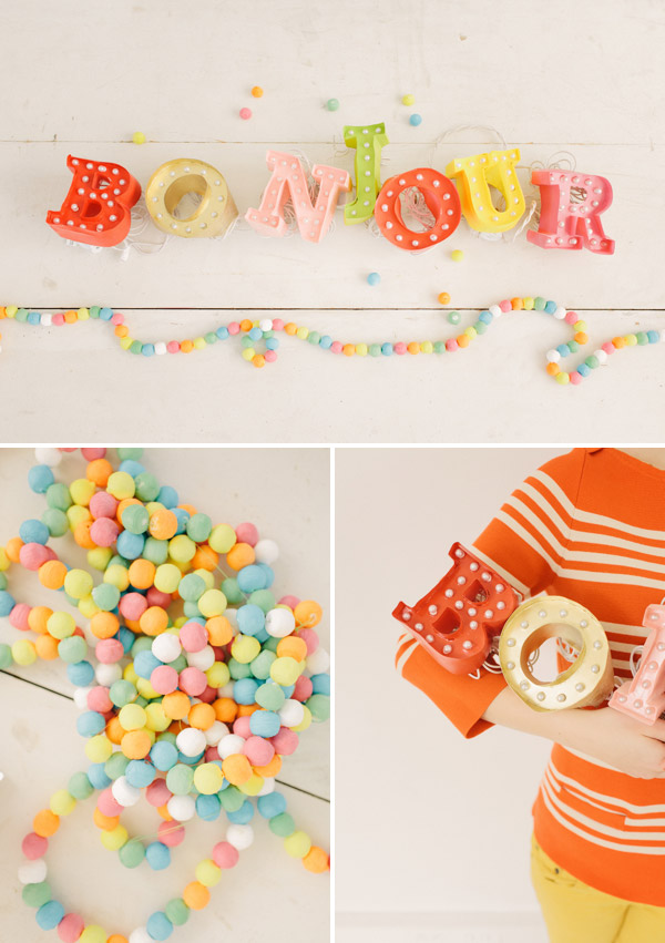 mini marquee sign with lights diy party decor ideas
