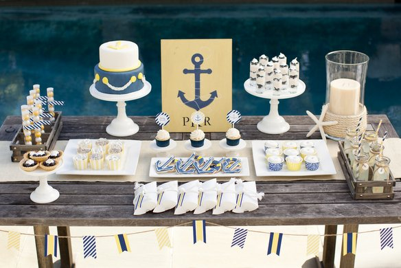 nautical themed baby shower such a classic theme for a boy baby