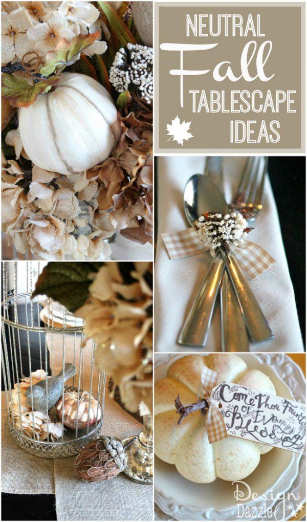 neutral fall tablescape ideas 1