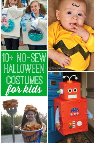 Only your creativity is needed for these 10+ No-Sew Halloween Costumes for Kids