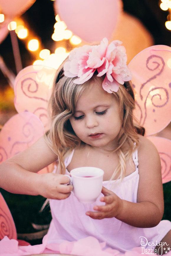 Sweet fairy drinking fairy tea! Design Dazzle