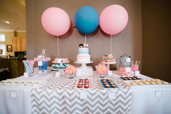 Pink and Blue Gender Reveal party theme