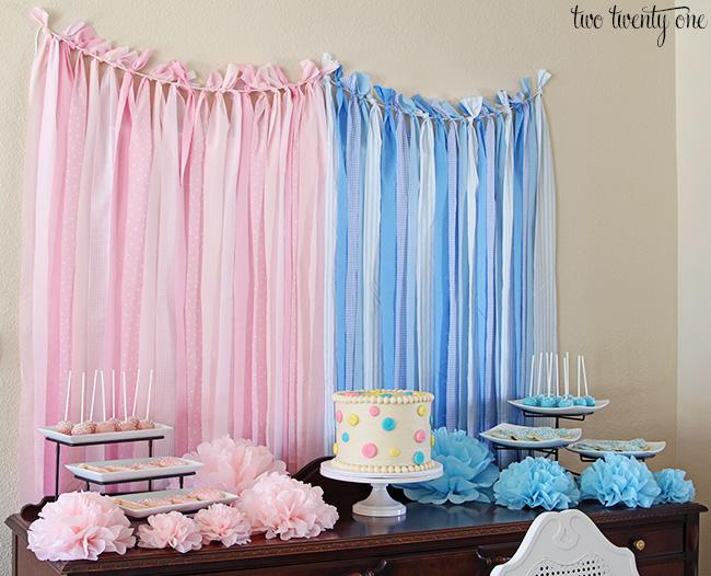 Pink & Blue Gender Reveal party