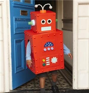 Костюм робот из коробок