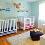 Gender Neutral Twins Nursery – Up Up & Away Theme