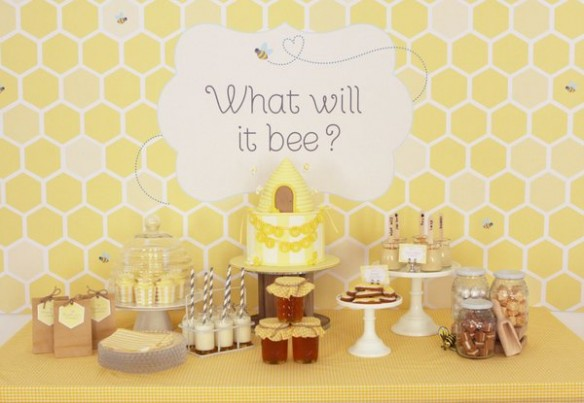 What will is Bee? gender reveal baby shower