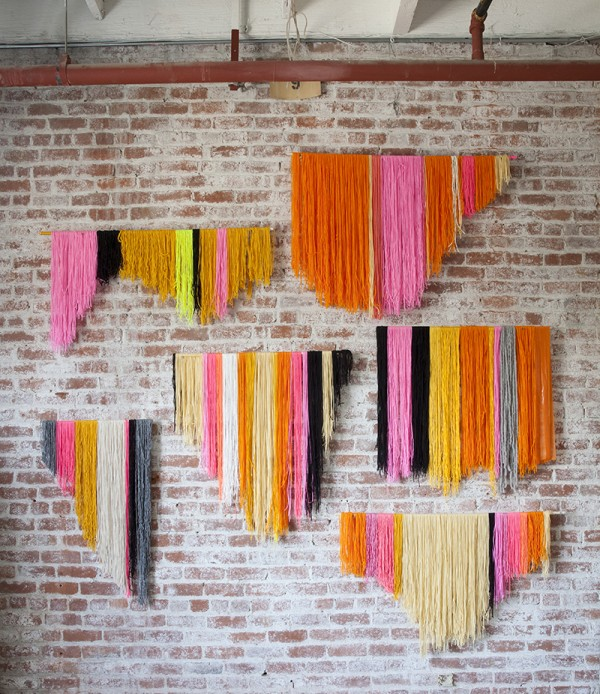 yarn hanging banners diy party decor ideas