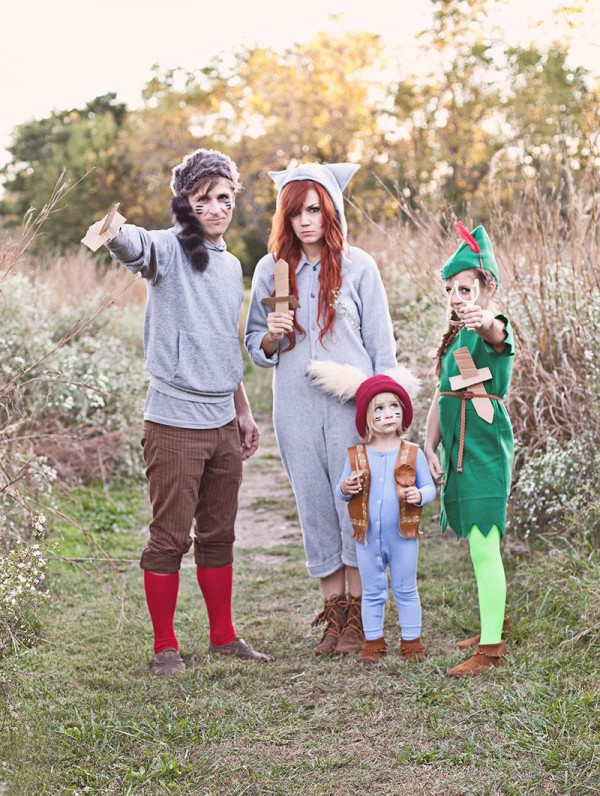Peter Pan and the Lost Boys Halloween costumes for siblings & Handmade Halloween Costume Ideas for Siblings - Design Dazzle