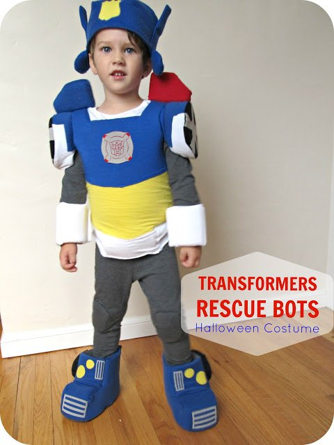 Homemade Transformer Halloween costume for Toddler Boys