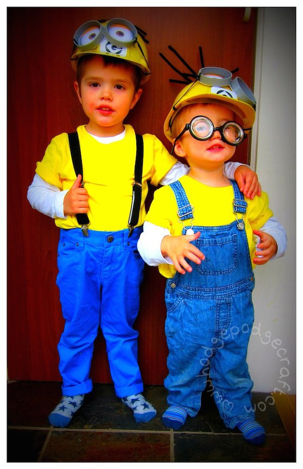 DIY Minion Costumes for Toddlers  sc 1 st  Design Dazzle & Handmade Toddler Boy Halloween Costumes - Design Dazzle