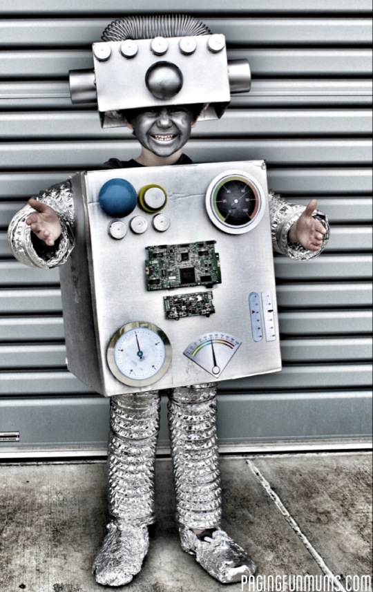 DIY Robot Costume for Toddler Boys
