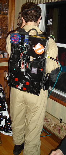 DIY Ghostbuster Proton Pack for Halloween