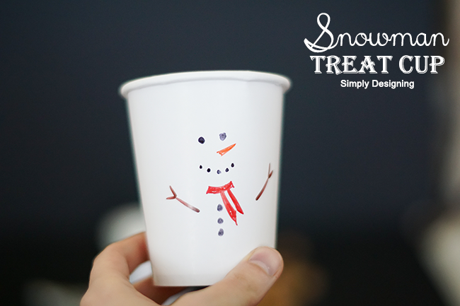 Snowman Treat Cup by Simply Designing for the Christmas Wonderful Series on Design Dazzle #christmas #christmaskids #applespicecider