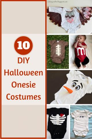 10 DIY Halloween Onesie Costumes for those sweet little babies