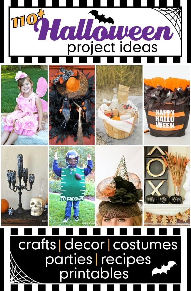Over 110 creative Halloween Ideas shared by bloggers. #halloweenideas #halloween