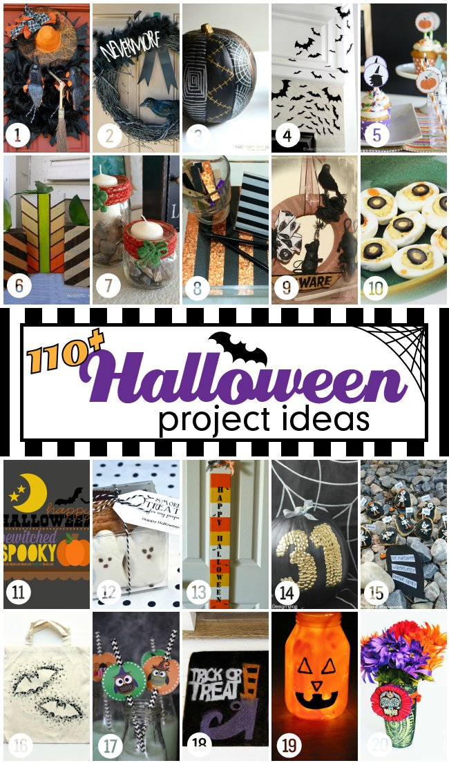 110 Halloween projects & ideas! #halloweenprojects #halloween
