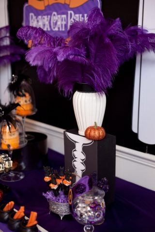 purple feather display
