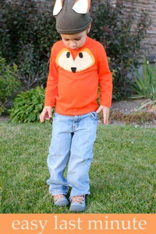 Easy Last Minute Halloween Fox Costume