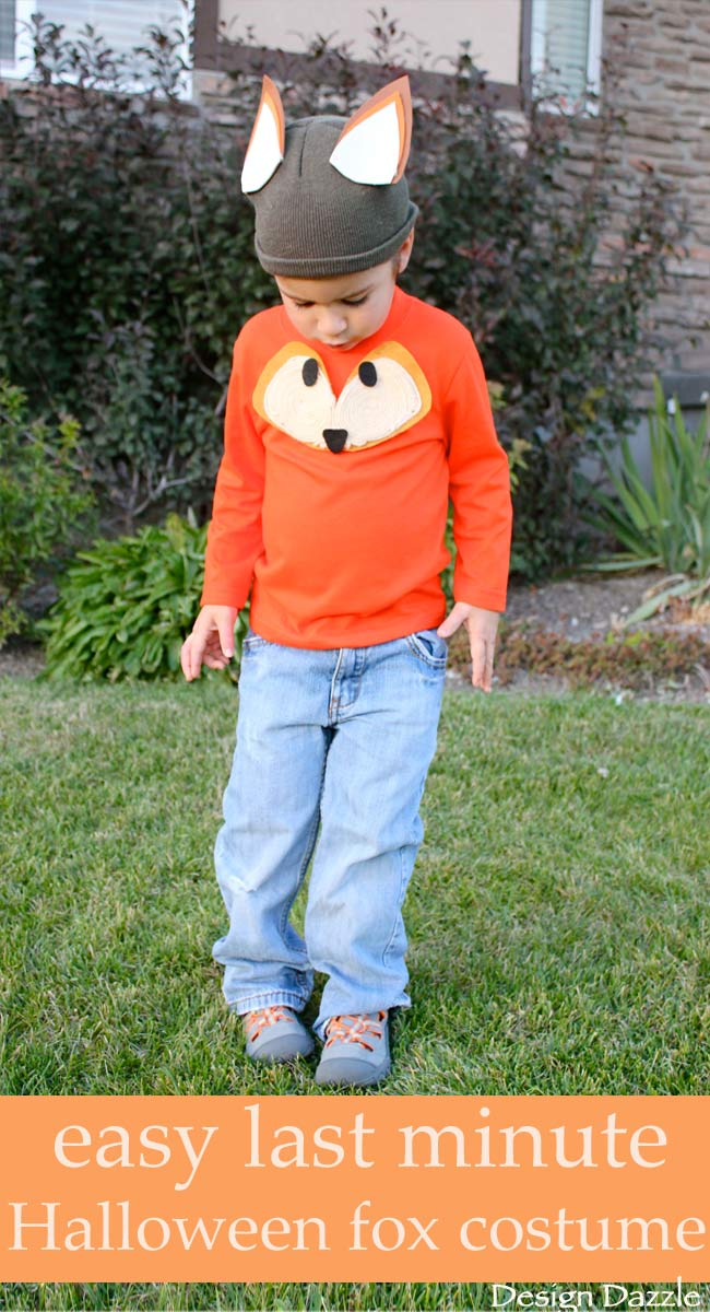 Easy last minute Halloween fox costume. No-sew and quick! | DIY kids : fox halloween costume ideas  - Germanpascual.Com